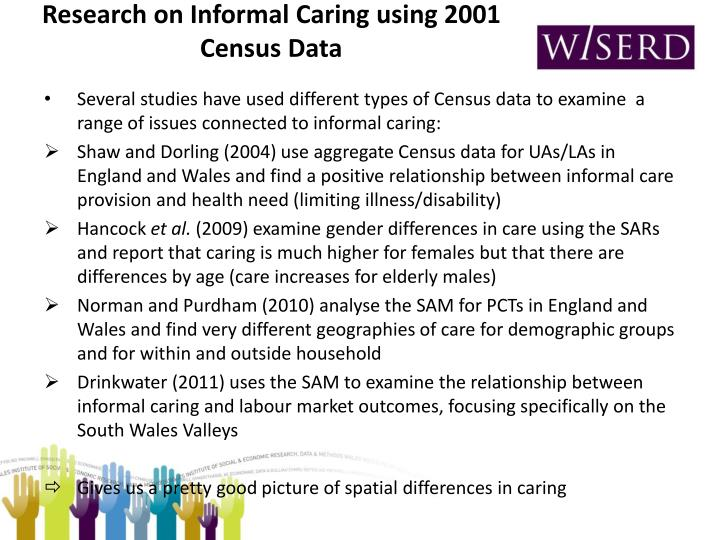 Research on Informal Caring using 2001 Census Data