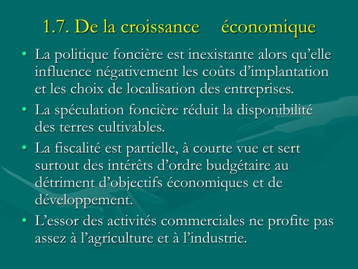 1.7. De la croissance économique