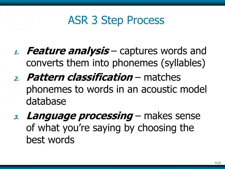 ASR 3 Step Process