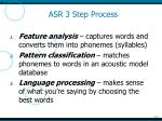 asr 3 step process