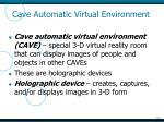 cave automatic virtual environment