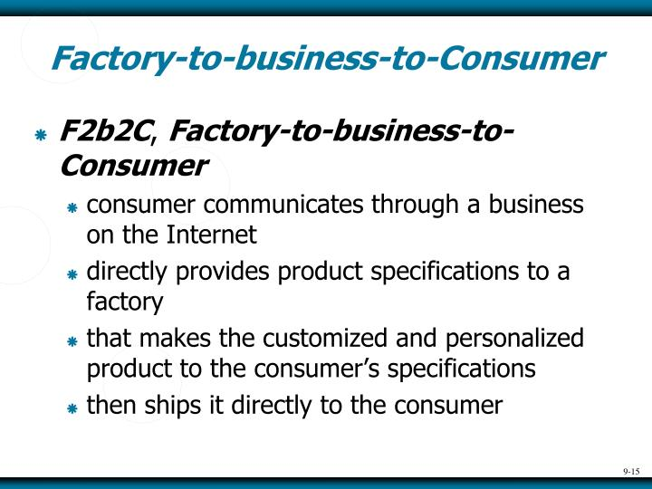 Factory-to-business-to-Consumer