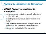 factory to business to consumer