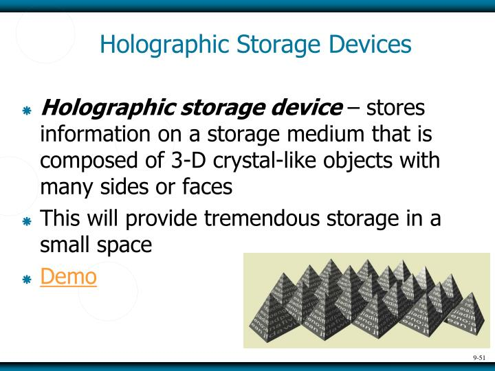 Holographic Storage Devices