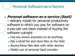 personal software as a service