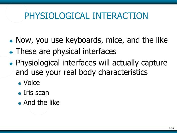 PHYSIOLOGICAL INTERACTION