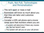 push not pull technologies and personalization1