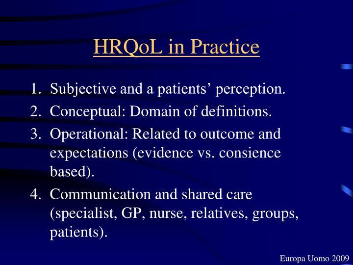 HRQoL in Practice