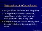 perspectives of a cancer patient