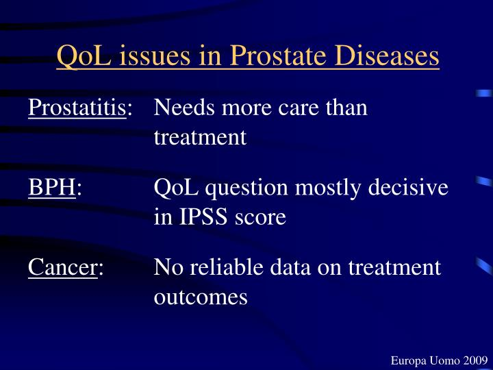 QoL issues in Prostate Diseases