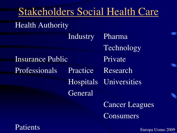 Stakeholders Social Health Care