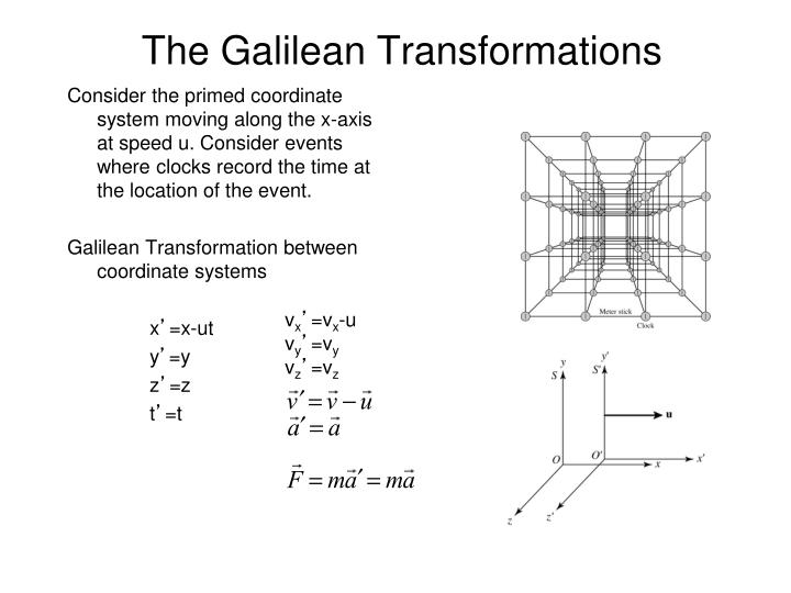 The galilean transformations