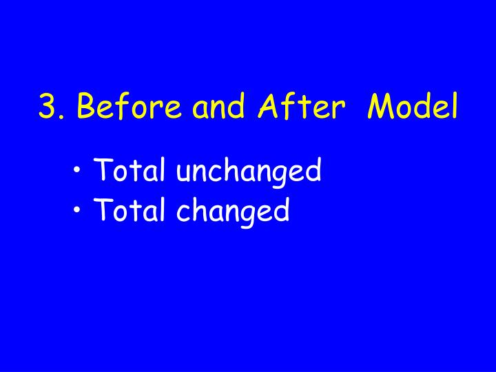 3. Before and After  Model