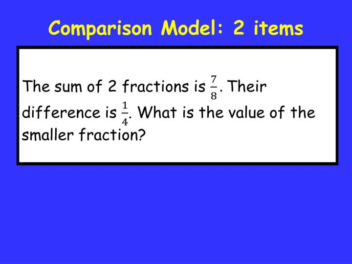 Comparison Model: 2 items