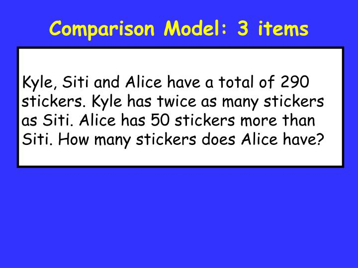 Comparison Model: 3 items