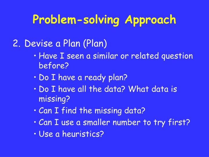 Problem-solving Approach