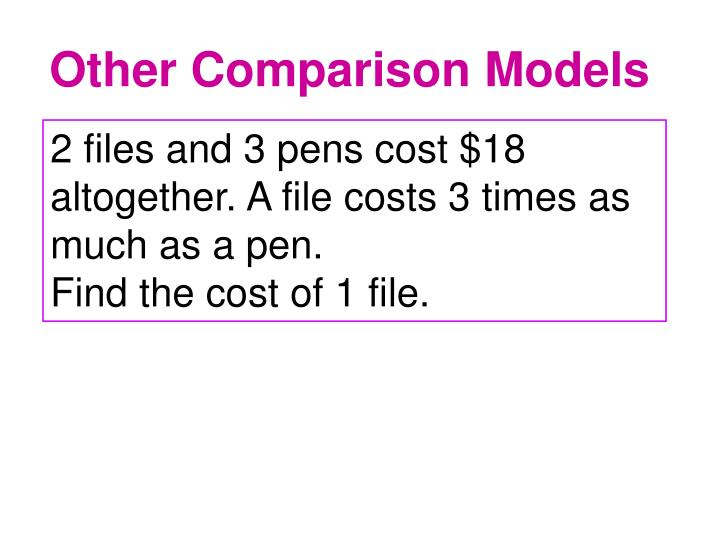 Other Comparison Models