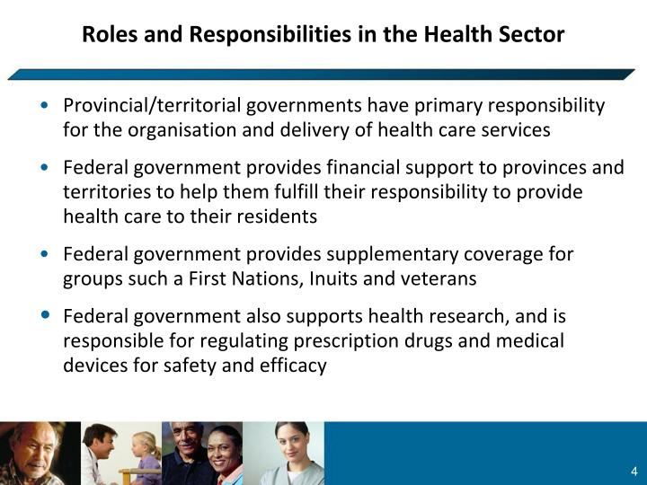 Roles and Responsibilities in the Health Sector