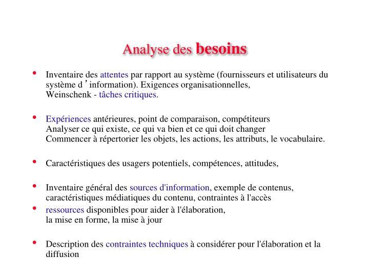 Analyse des