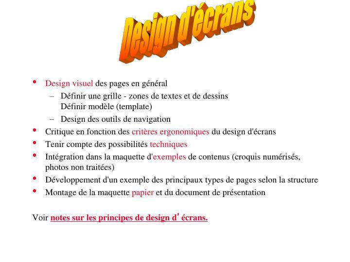 Design d'écrans
