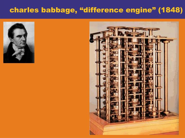 "charles babbage, ""difference engine"" (1848)"