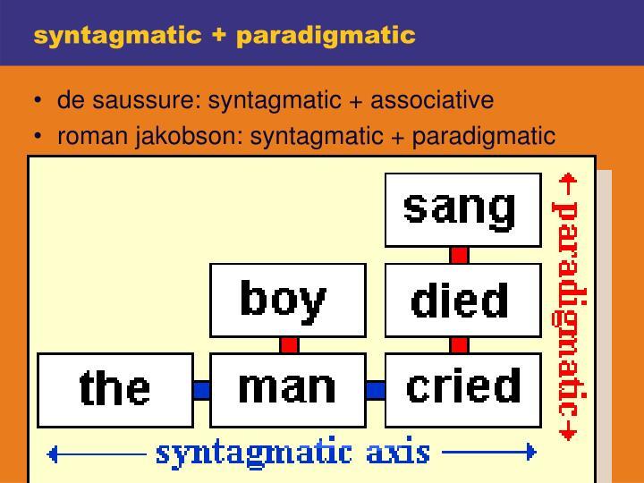 syntagmatic + paradigmatic