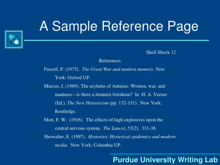 A Sample Reference Page