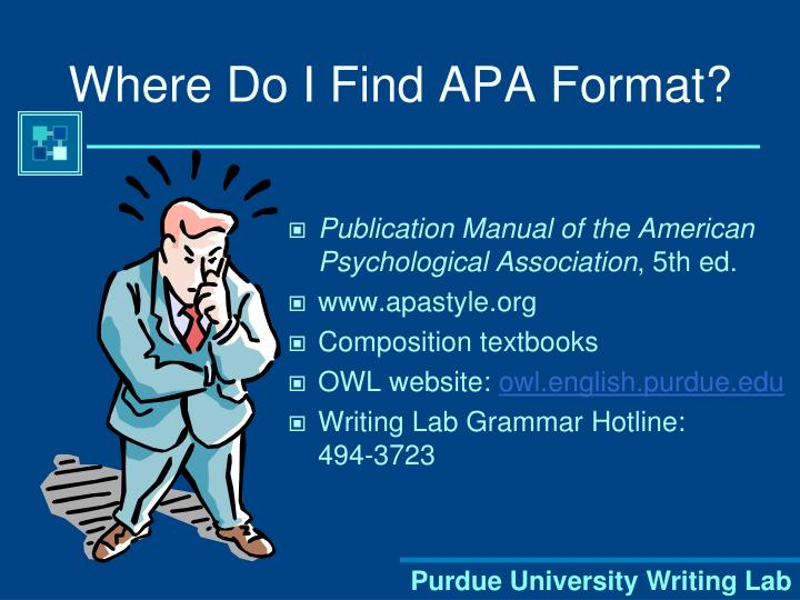 Where Do I Find APA Format?
