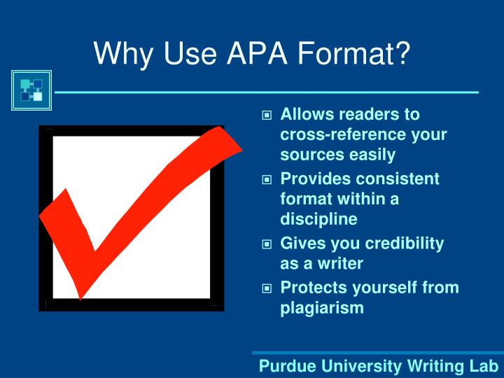 Why use apa format