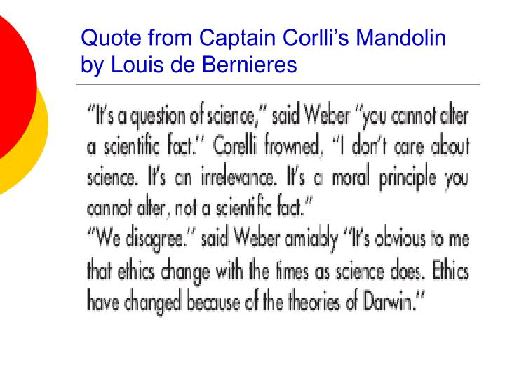Quote from captain corlli s mandolin by louis de bernieres