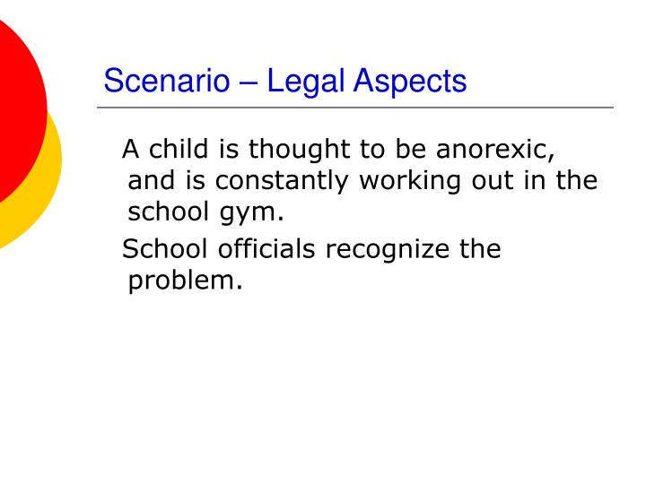 Scenario – Legal Aspects