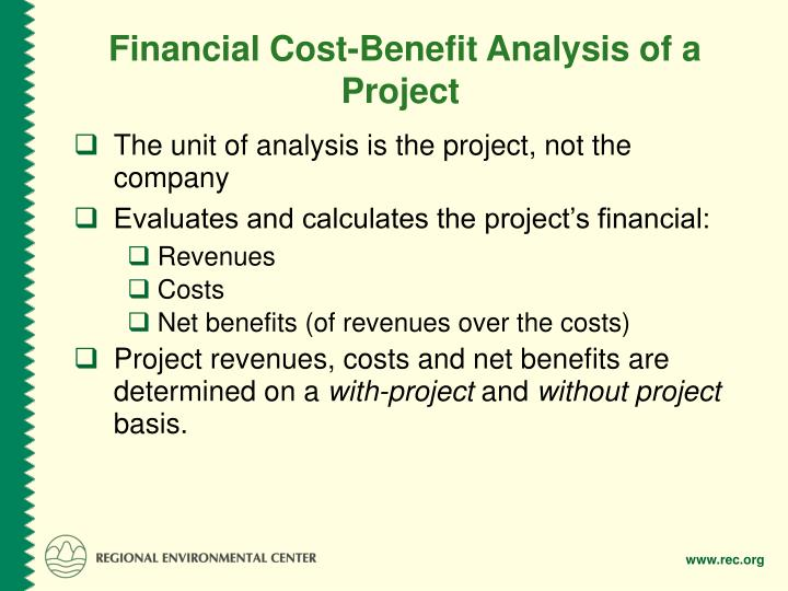 Financial Cost-Benefit Analysis of a Project