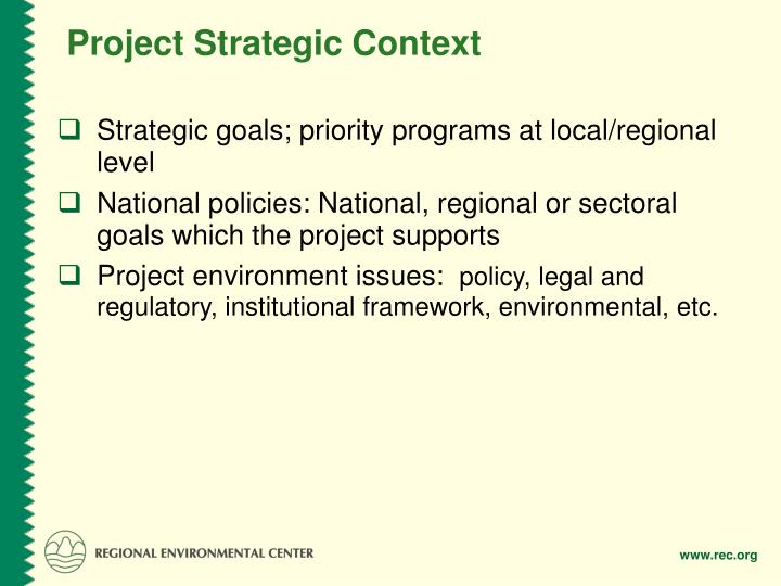 Project Strategic Context
