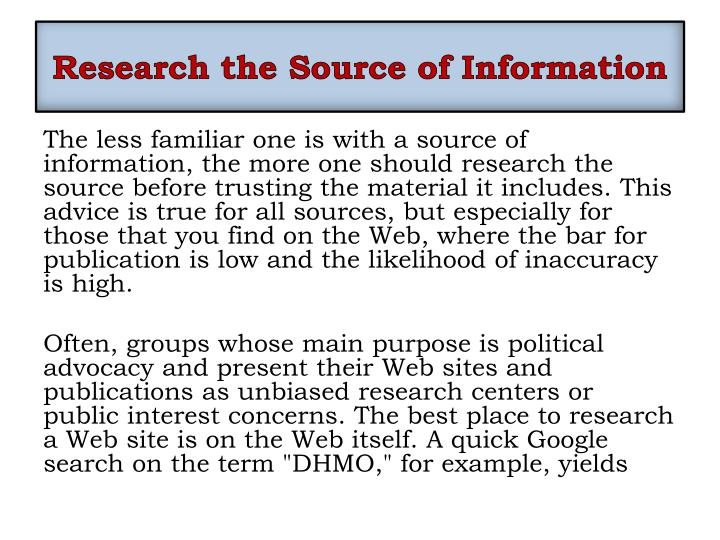 Research the