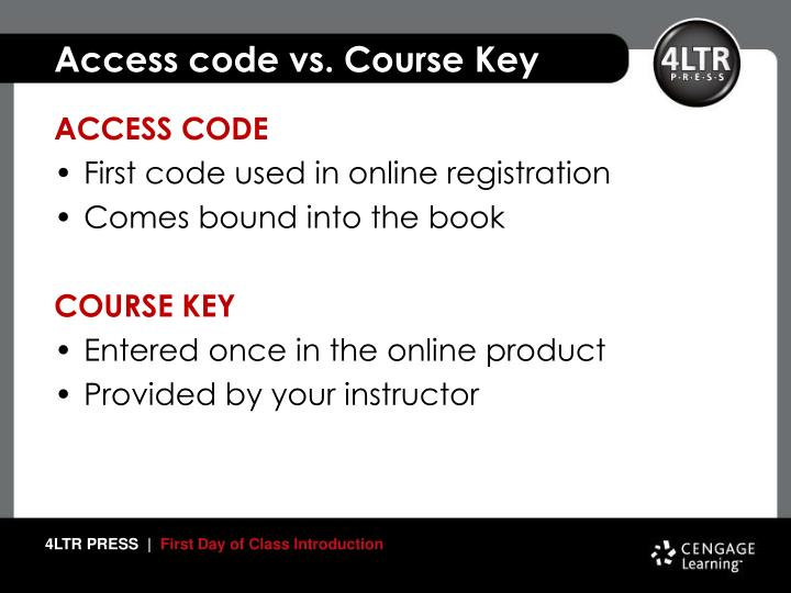 Access code vs. Course Key