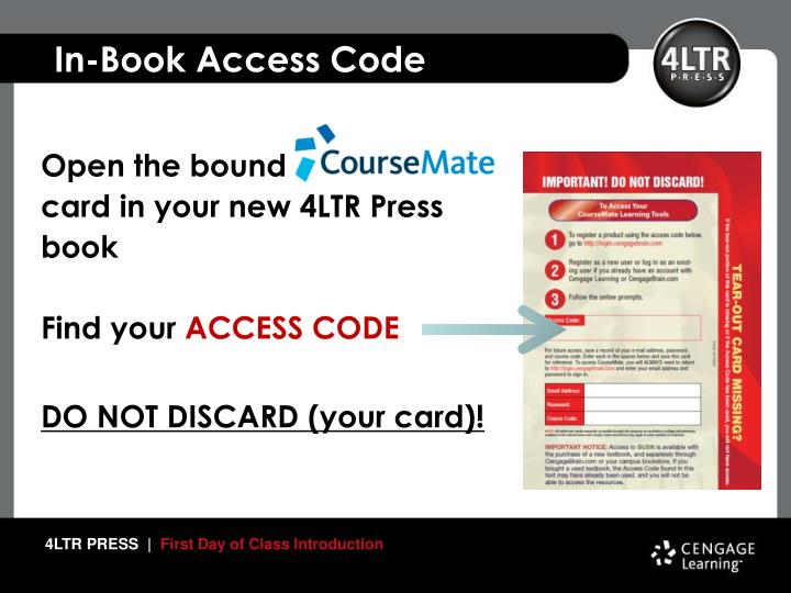 In-Book Access Code