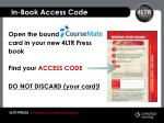 in book access code