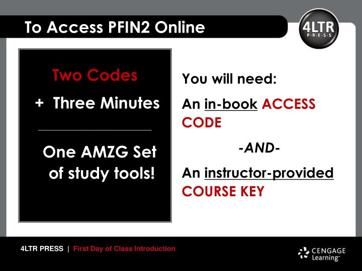 To Access PFIN2 Online