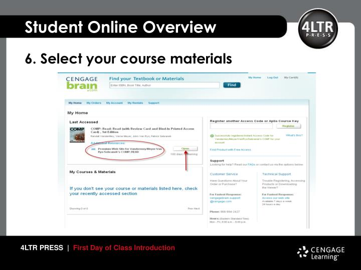 6. Select your course materials