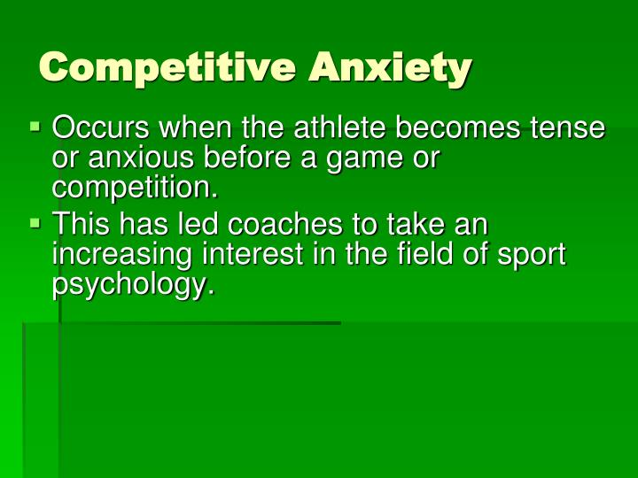 Competitive Anxiety