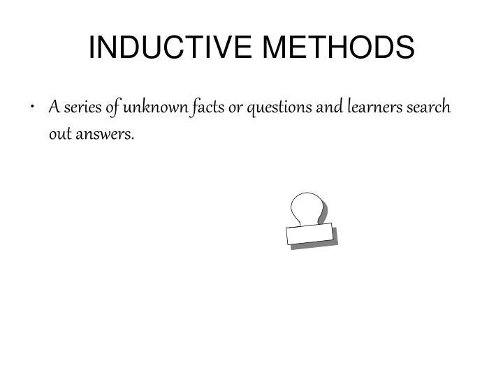 INDUCTIVE METHODS