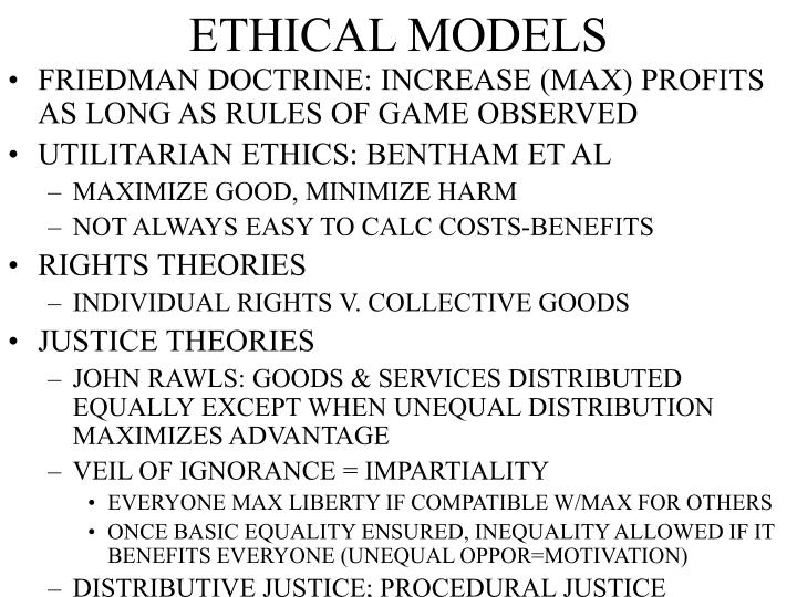 ETHICAL MODELS