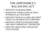 the impossible balancing act