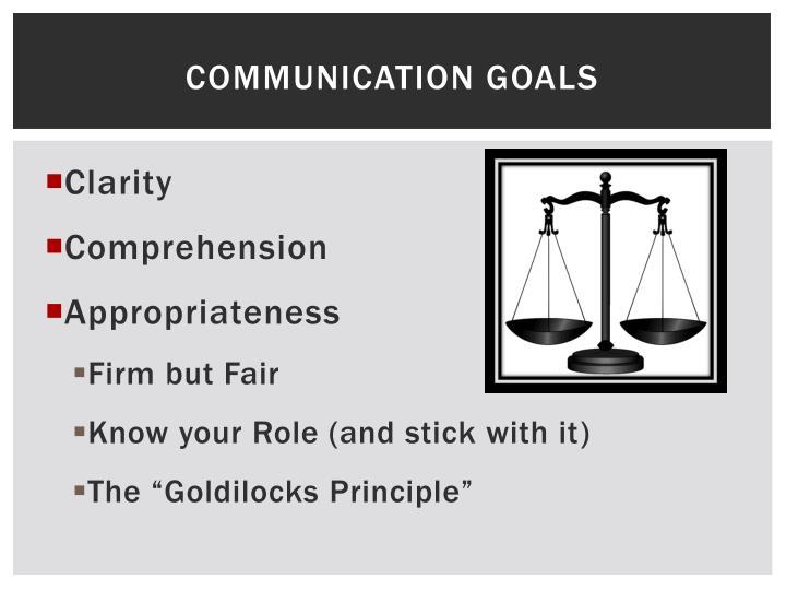 Communication Goals
