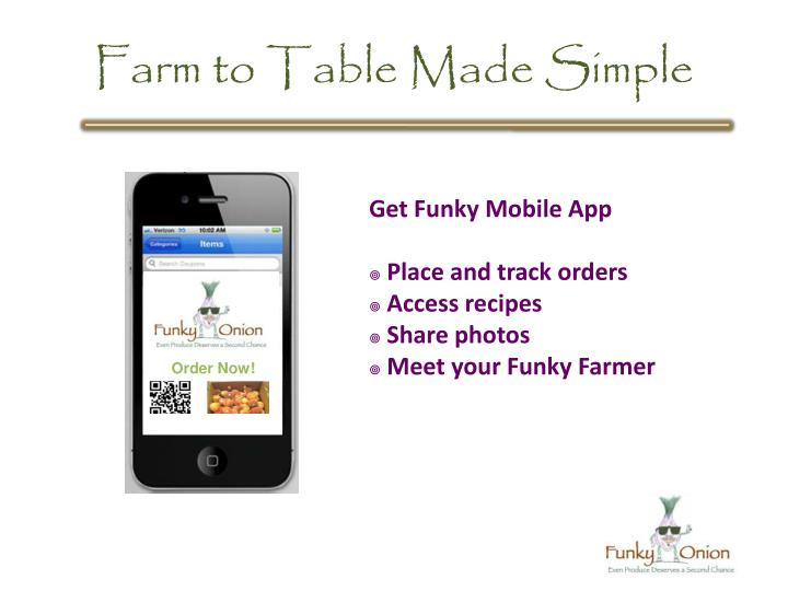 Farm to Table Made Simple