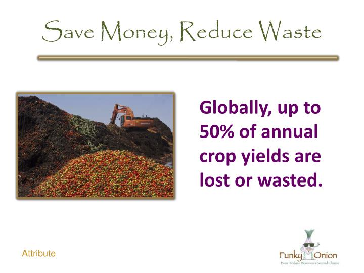 Save Money, Reduce Waste
