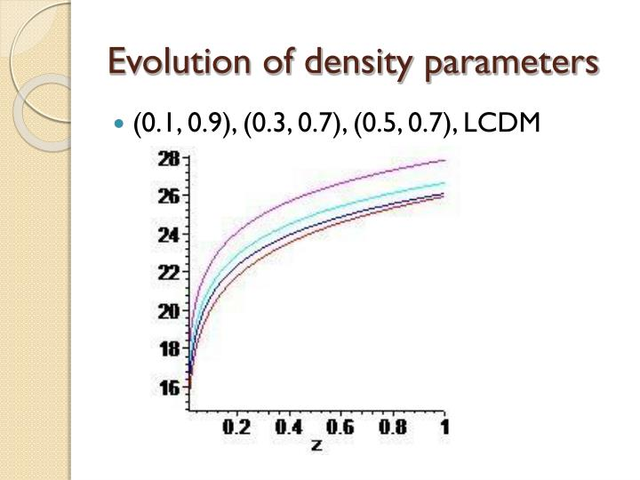 Evolution of density parameters