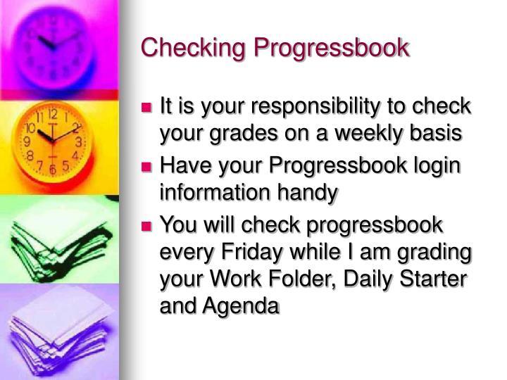 Checking Progressbook