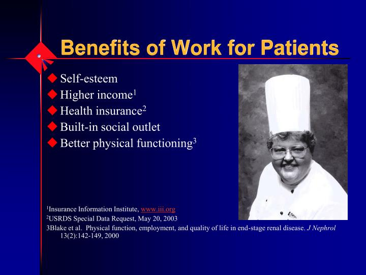Benefits of Work for Patients