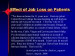 effect of job loss on patients1